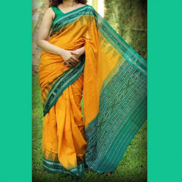 Party Wear Mustard Green Color Fancy Saree at discounted ...