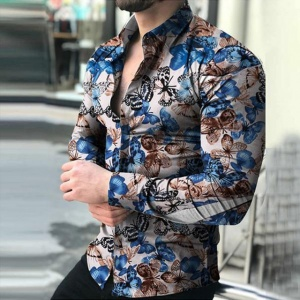 Multi Color Butterfly Printed Casual Shirt